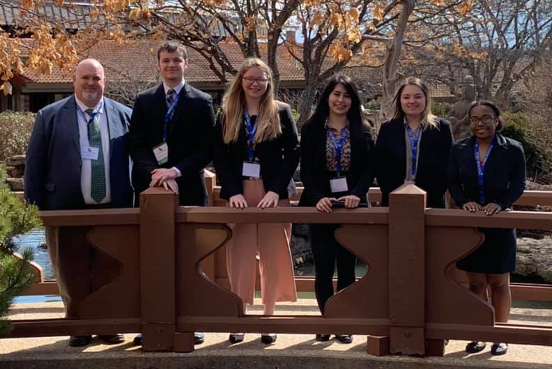 CMU DECA team at State competition