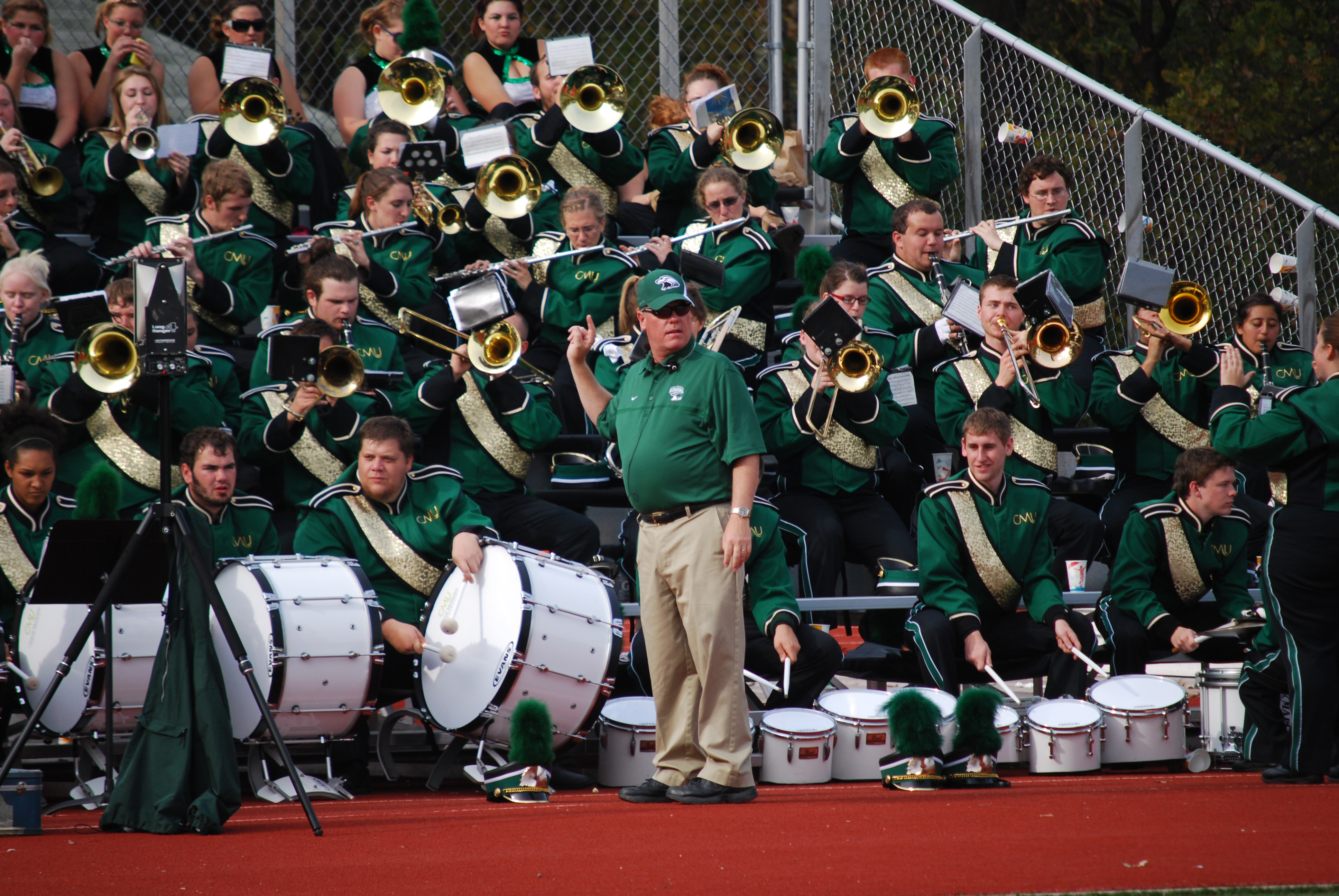 Skip Vandelicht with marching band