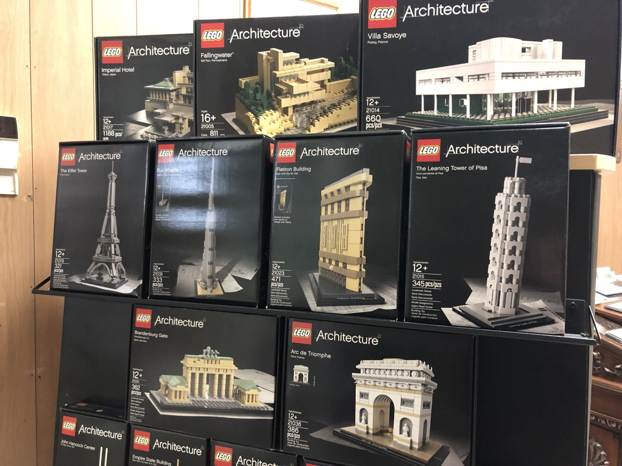 The LEGO display