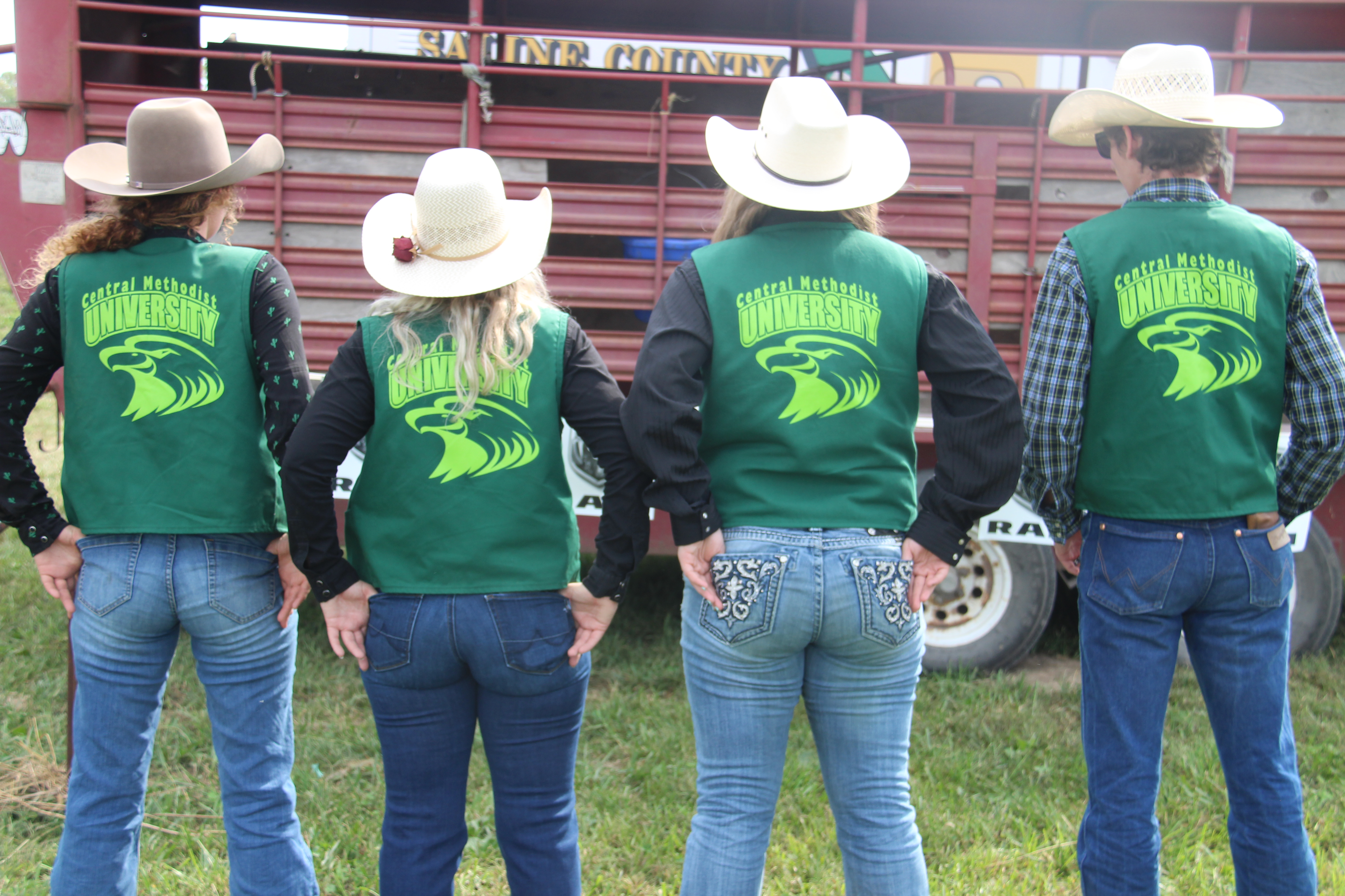 Central Methodist University rodeo team at first competition